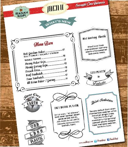Lembar terakhir menu Ranah Kopi
